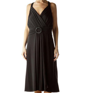 Eliza J black tank dress fit & flare size 14 w NEW